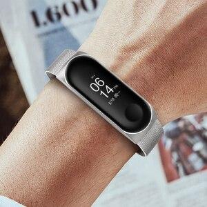 Image 5 - Metall Smart Armband Edelstahl Handgelenk Gurt für Xiaomi Mi Band 3 4 5 Strap Handgelenk Band Armband Armband für miBand 5 4 3 Z2