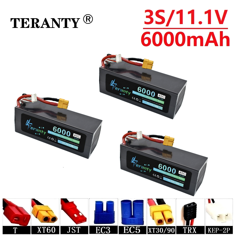 High Power 11.1v <font><b>6000mAh</b></font> 40C Max 60C Batterry For RC Cars Boats Drones Spare Parts <font><b>3s</b></font> 5400mah 11.1v <font><b>Lipo</b></font> Battery T/XT60/JST/TRX image