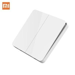 Image 1 - Originale Xiaomi Norma Mijia Smart Switch Interruttore A Parete Singola Doppia Tre Doppio interruttore di Comando Aperto 2 Modalità Lampada Intelligente Interruttori Della Luce