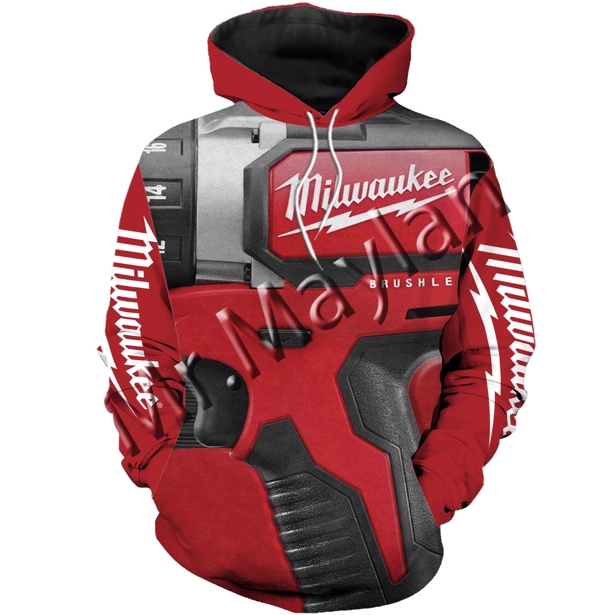 3D Print Fashion Beautiful Milwaukee Tools Men/Women Sportswear Hoodie Leisure Streetwear  / Sweatshirts / Hoodies / Jacket /S-2