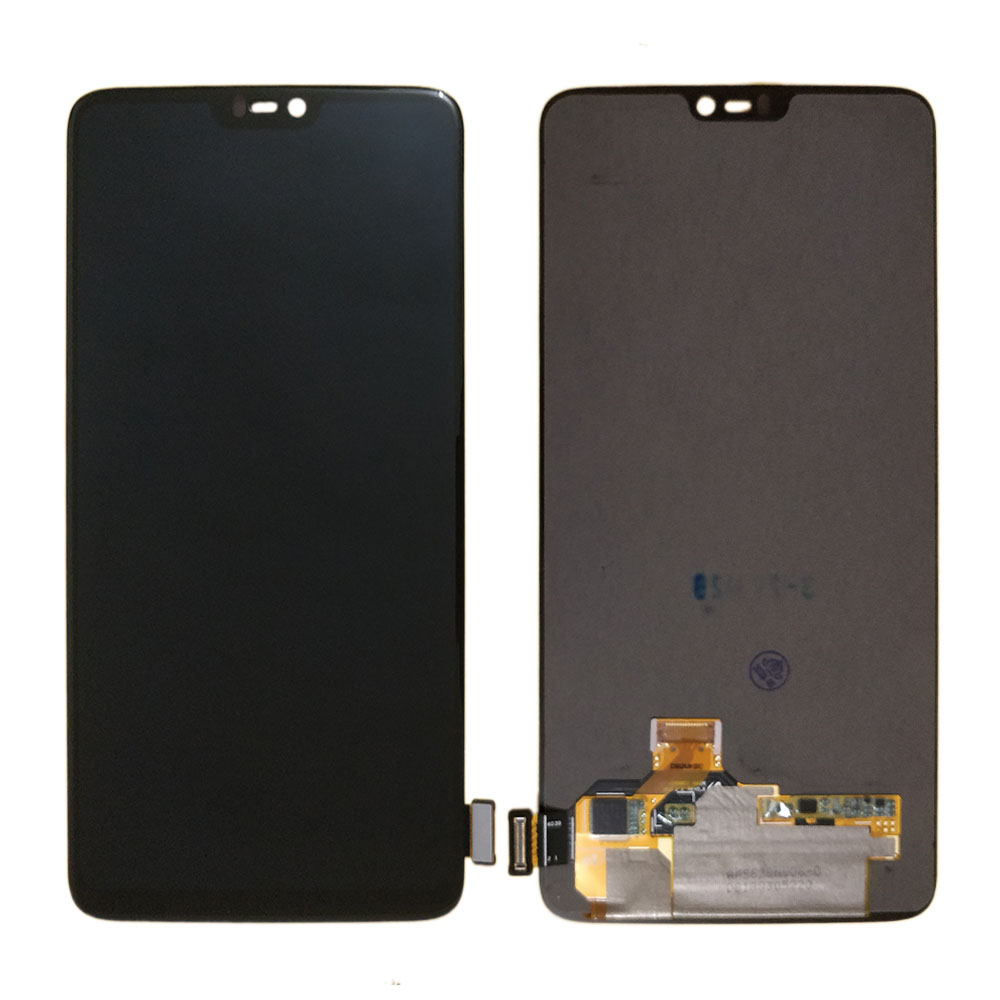 Original Amoled LCD For <font><b>Oneplus</b></font> 6 <font><b>A6000</b></font> LCD Display Touch <font><b>Screen</b></font> Digitizer Assembly replacement one plus 6 1+6 6.28 inch LCD image
