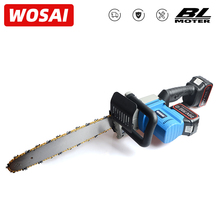WOSAI Cordless Chain Saw Brushless Motor Power Tools 40V li-ion Cordless Electric Chainsaw Garden Power Tools