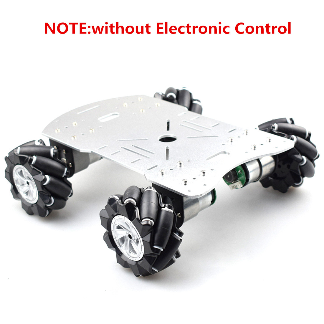 80mm DIY Mecanum Metal Platform Programmable Kit Omni-Directional Mecanum Wheel Robot Car With STM32 Electronic Control