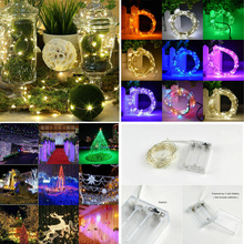 LED String lights 100LED 10M 5M 2M Silver Wire Garland Home Christmas Wedding Party Decoration Powered by 5V Battery Fairy light