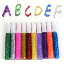 1 шт. цветной Блестящий Порошок для рисования, клей для бумаги, чехол для телефона, художественный, сделай сам, детский пигмент, супер жидкий клей, ручка