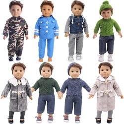 Вязаная Униформа высокого качества кукла аксессуары для одежды для 18-дюймовой куклы для мальчиков и девочек 43 см кукла для новорожденных и ...