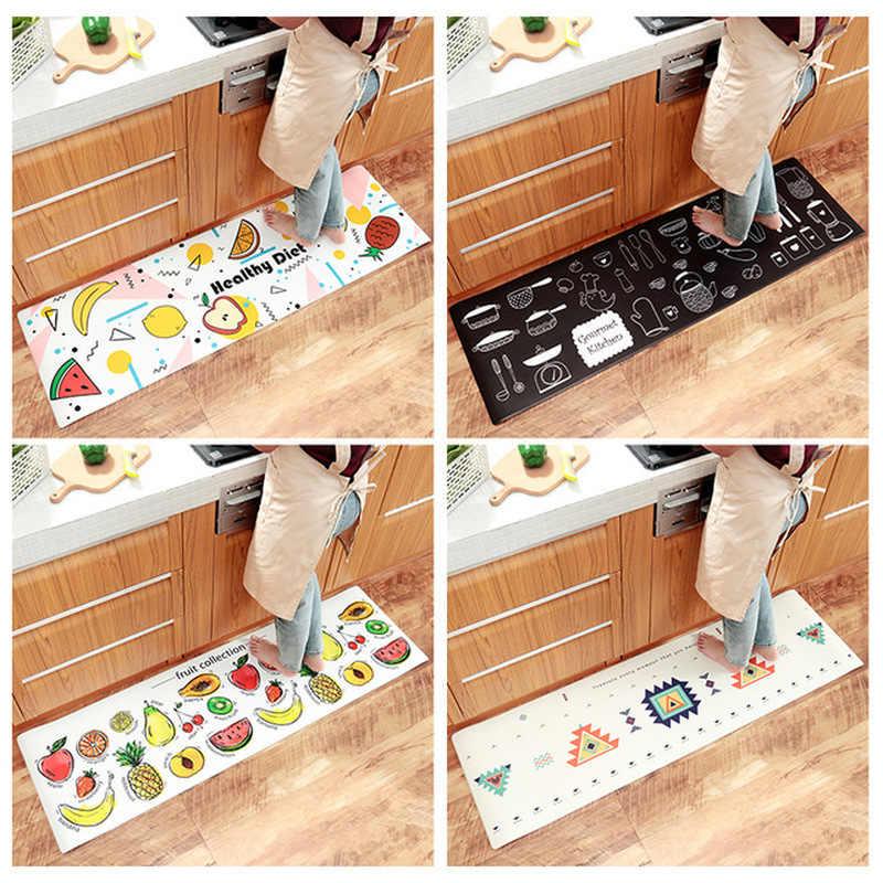 Moder küche Teppich Wasserdicht Ölbeständiges PVC Cartoon Matte Küche Boden Tür Matte Anti-slip Matten Hause Entrance Front Tür fußmatten
