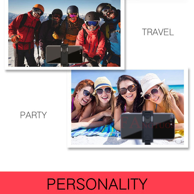 FANGTUOSI 3 in 1 Wireless Bluetooth Selfie Stick Extendable Handheld Monopod Foldable Mini Tripod With Shutter Remote For iPhone 4