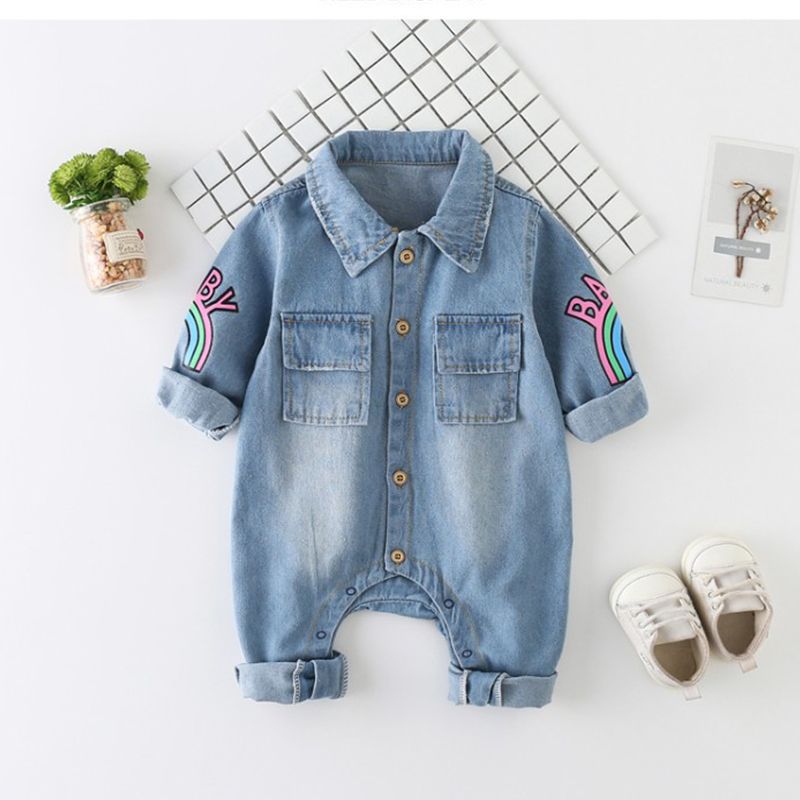 Baby Romper Summer Spring Jeans Jumpsuit Baby Girls Clothes Unisex Baby Clothes Kids Costume For Newborn Baby Clothes 0 24 Month
