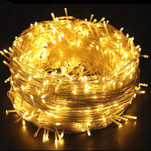 Guirnalda impermeable de luces LED para exteriores, decoración para Navidad, Año Nuevo, boda, 10/20/30/50/100M, 220V
