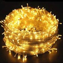 Led 妖精ライト 10/20/30/50/100 メートル防水花輪 220 v 屋外 led ストリングライトクリスマス新年の結婚式