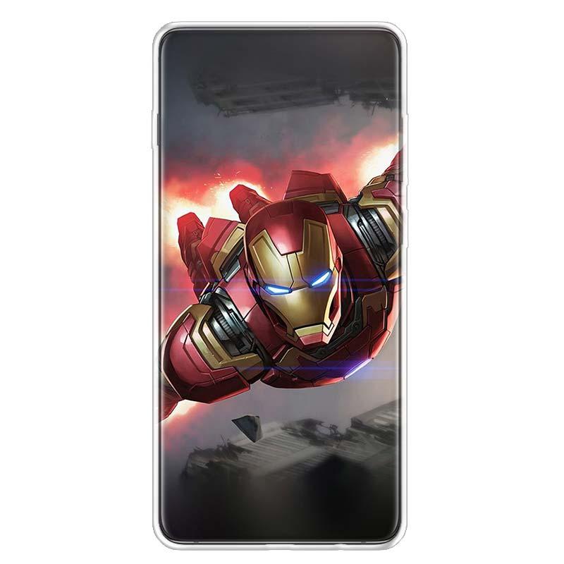 Avengers Ironman Phone Case For Samsung Galaxy S20 Ultra Plus S6 S7 S8 S9 S10 NOTE8 NOTE9 NOTE10 J4 J6 J8 Plus Edge Lite
