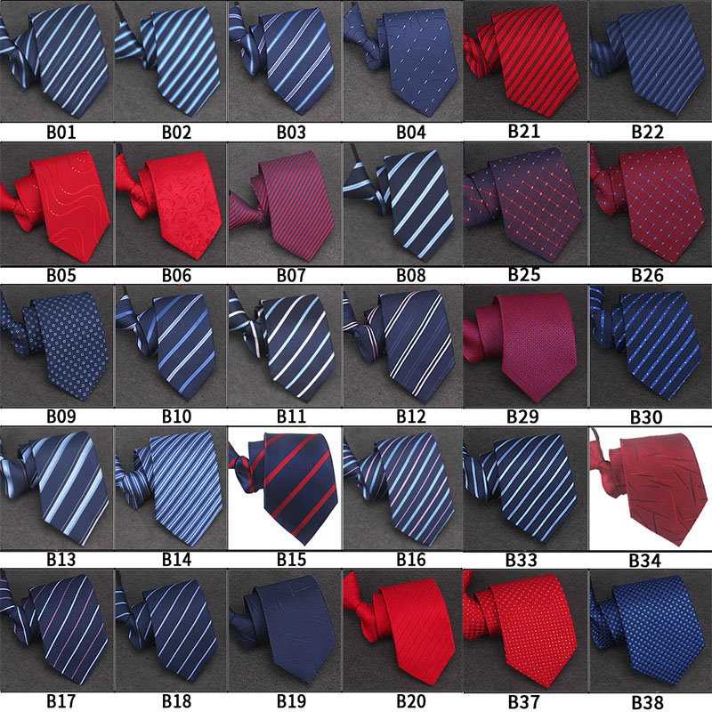 100 Styles Men's Zipper Tie Wholesale 8cm Width Mans Business Women Necktie Pre-tied Striped Bridegroom Party Necktie Cravate