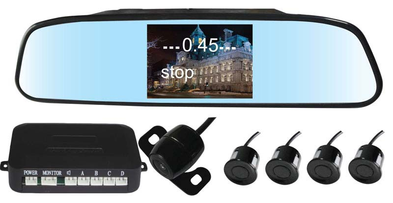 Reversing Camera System With 4.3-Inch Rear View Monitor And Webcam PZ604