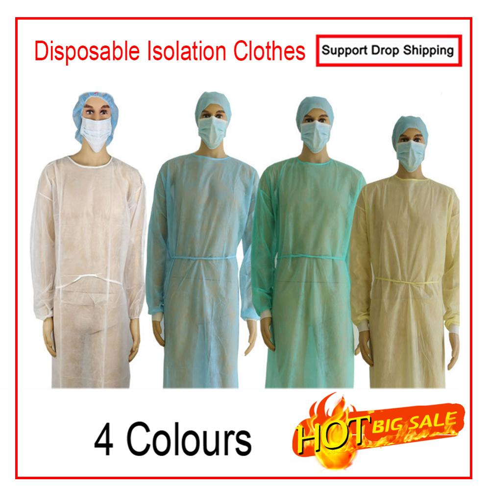 Disposable Surgical Gown Thin And Light Dust Clothes Overalls One Time Aprons Disposable Medical Gowns Cleanroom Garment