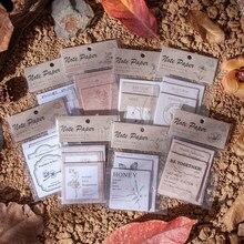 Journamm 30 sztuk Vintage roślin papierowy materiał karty Kraft karty dla Deco biurowe karty LOMO biurowe notatnik kartki samoprzylepne