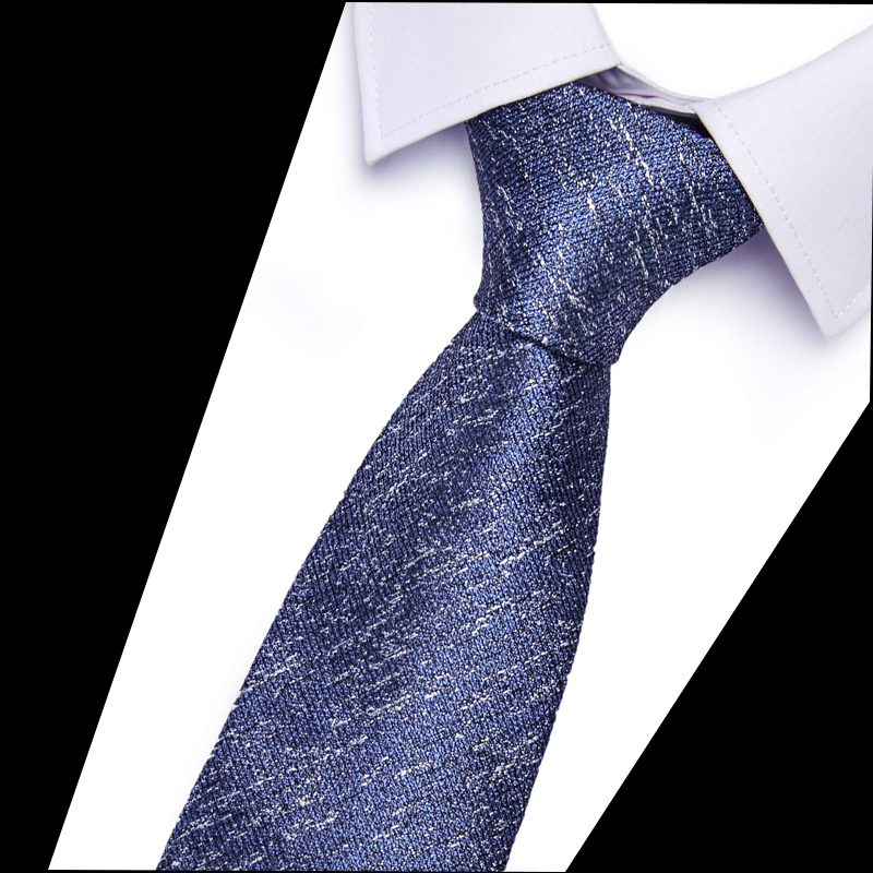 6cm Skinny Ties Wedding Business Necktie 20 Styles Classic Mans Accessories Slim Tie For Men Jacquard Woven Solid 100% Silk Ties