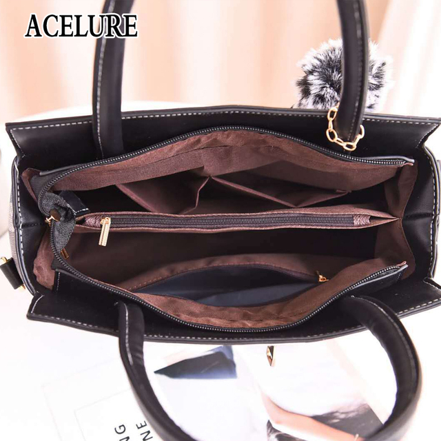 Women Handbags Famous Top-Handle Brands Women Bag Purse Messenger Shoulder Bag High Quality Ladies Feminina Luxury Pouch ACELURE