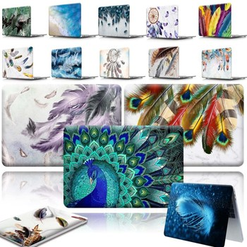 For Apple MacBook Air Pro Retina 11 12 13 15&New Air 13/Pro 13 15 16 with Touch Bar- Feather Hard Shell Laptop cover case for new macbook air pro retina 11 12 13 15 for macbook pro 13 15 2017 2018 a1708 a1989 floral feather print laptop case cover