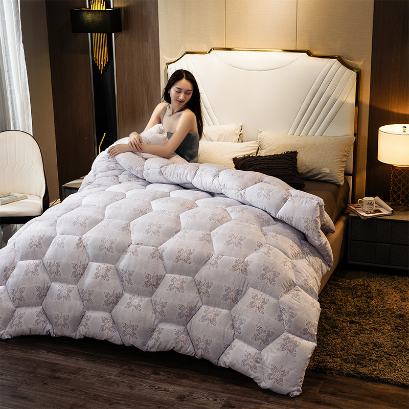 CF Very Warm Winter Thick Blanket/Soft Duvet Quilt Super King Sizes Comforter 4D Luxury Home Hotel Down Duvet Silk Down Quilt