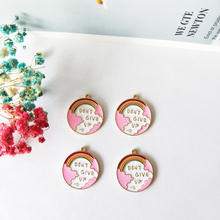 10pcs Gold Tone Alloy Enamel Charms Pendant Round Rainbow Map Fit Bracelet Earrings Making  Jewelry DIY Accessories FX147
