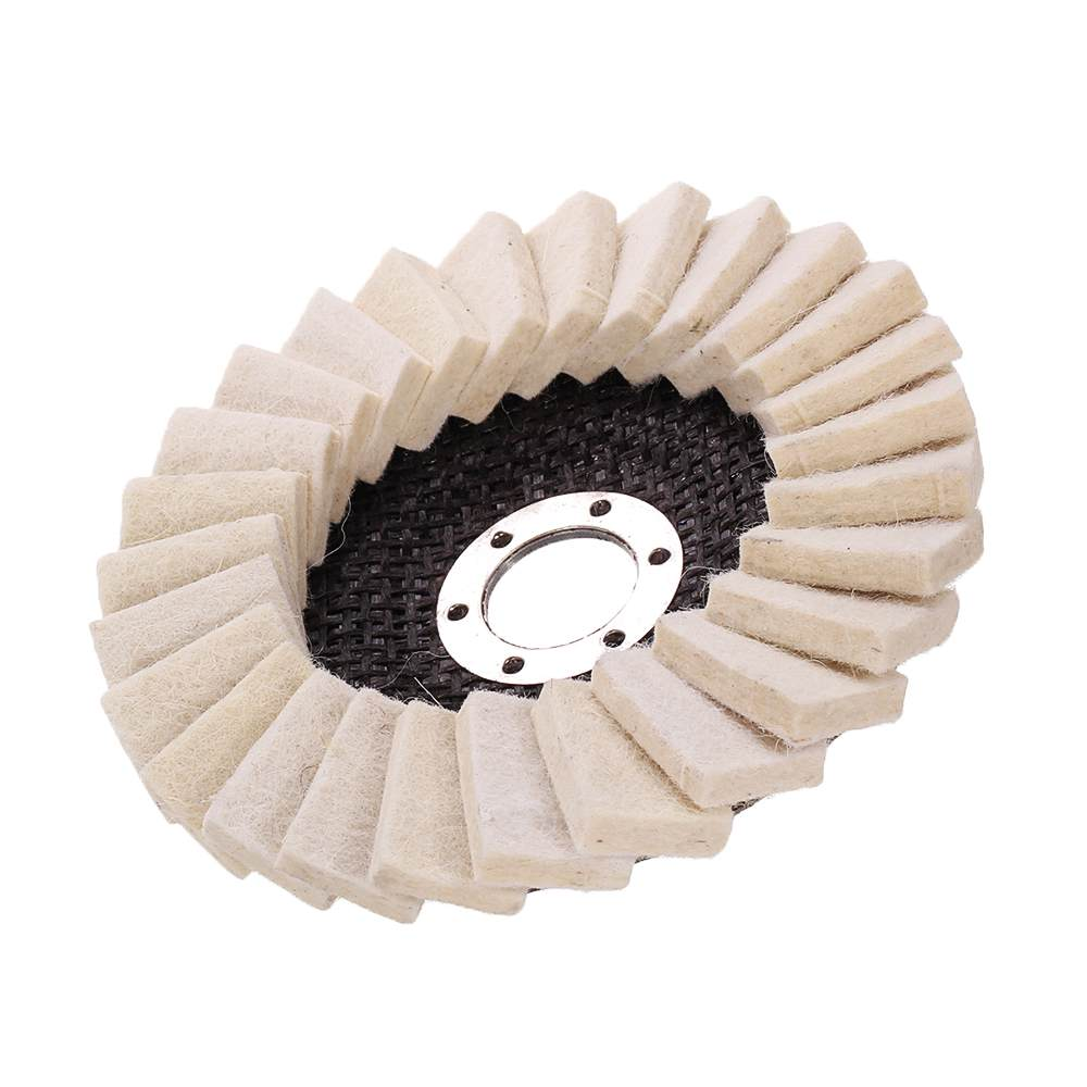 New 130mm Stianless Steel Wool Felt Flap Polishing Wheel Disc Angle Grinder Buffing Pads For Medical Glass Marble Metal