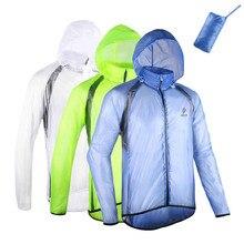 Brand Men Women Cycling Raincoat Ultra Slim Riding Mountain Bike Jacket Windbreaker Split Windproof Waterproof Breathable