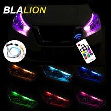 Strip Headlights Multicolor Car 45 2pcs 60cm DRL Daytime RGB Flexible Led Auto Flow Ultrafine