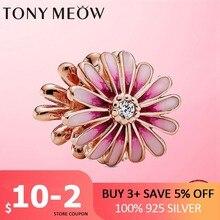 100% SILBER 925 sterling silber CODEDOG Blühende Daisy Blume charme perlen fit original-Pan Armband edlen schmuck