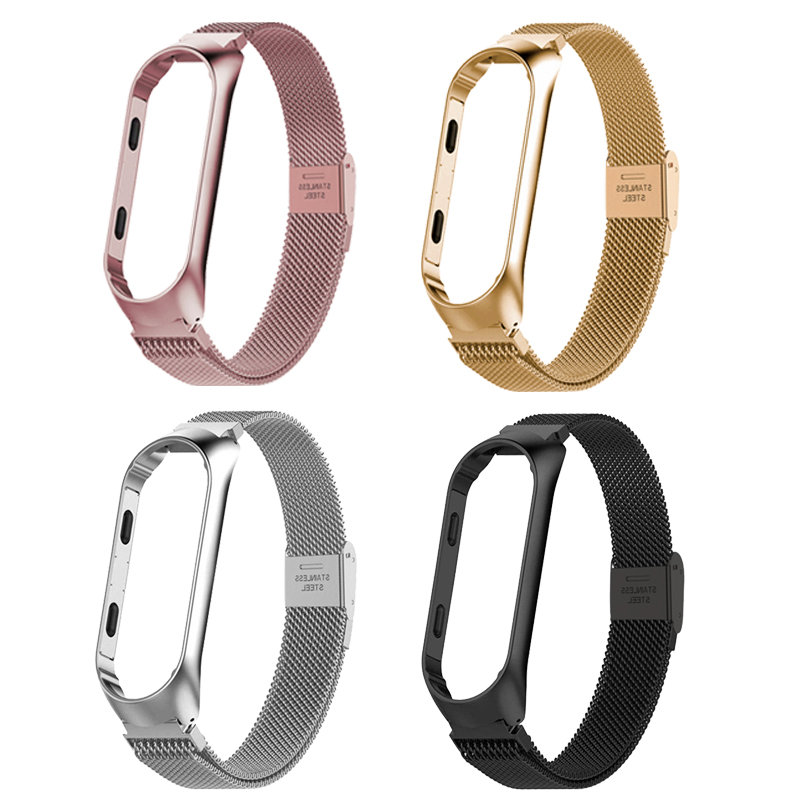 Mi Band 3 Strap Bracelet Magnetic Attraction Metal Wristband And Xiaomi Mi Band3 Xiomi Smart  Accessories Mi3 Band Wrist Strap