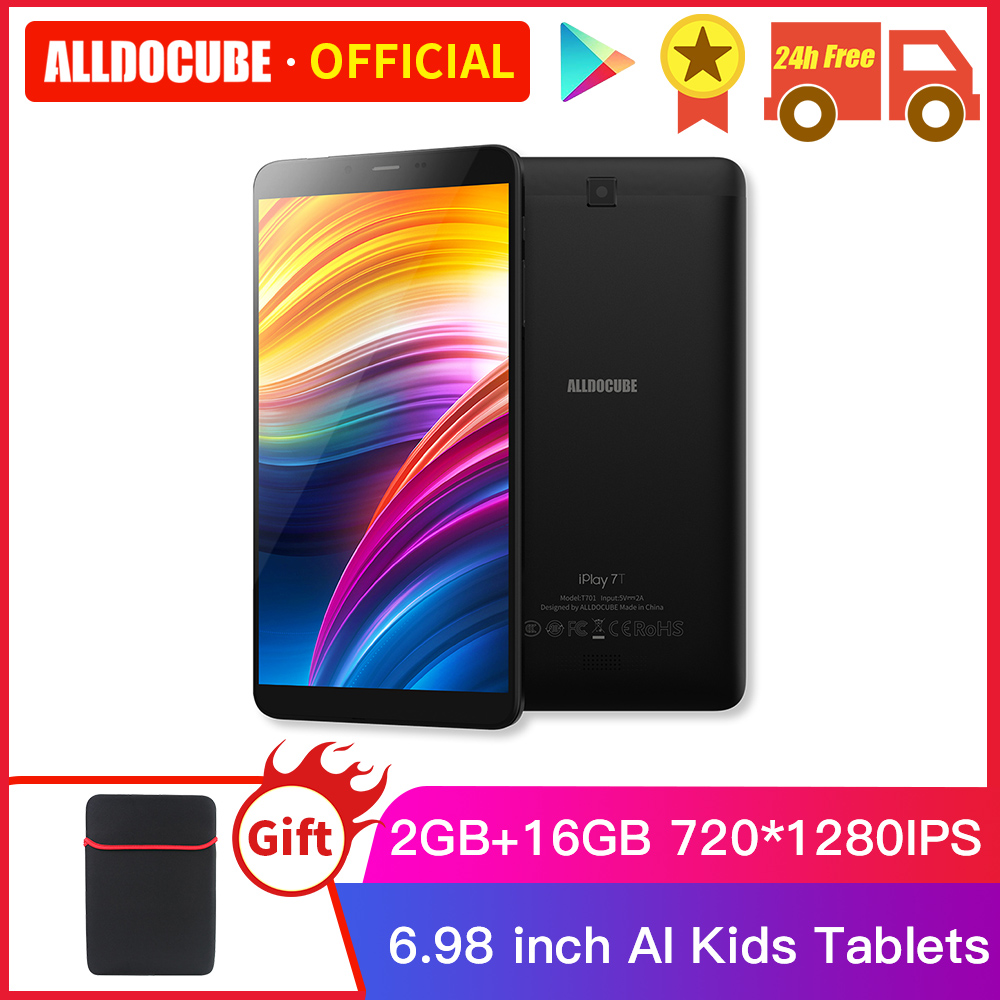 Alldocube IPlay 7T Phone Tablet Android 9.0 Quad Core 6.98 Inch 4G LTE Unisoc SC9832E 2GB +16 GB 720*1280 IPS AI Kids Tablets