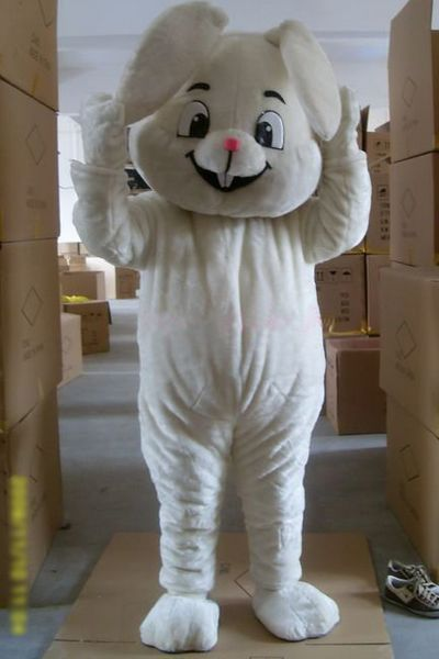 New Version The Lovely White Rabbit Mascot Costume Adult Birthday Party Fancy Dress Halloween Cosplay Outfits Clothing Xmas