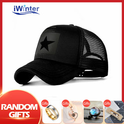 IWINTER Men's Baseball Cap Mesh Cap For Women Men Sun Snapback Hats Bone Adjustable Men's Baseball Hat Dropshipping