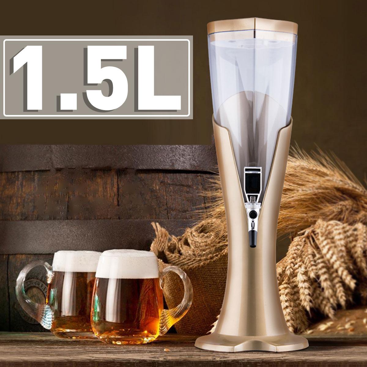 1.5L Drinking Water Dispense Bottle Portable Soda Dispenser Magic Tap For Cold Drink Beer Tea Fruit Juice Beverage 18*51CM