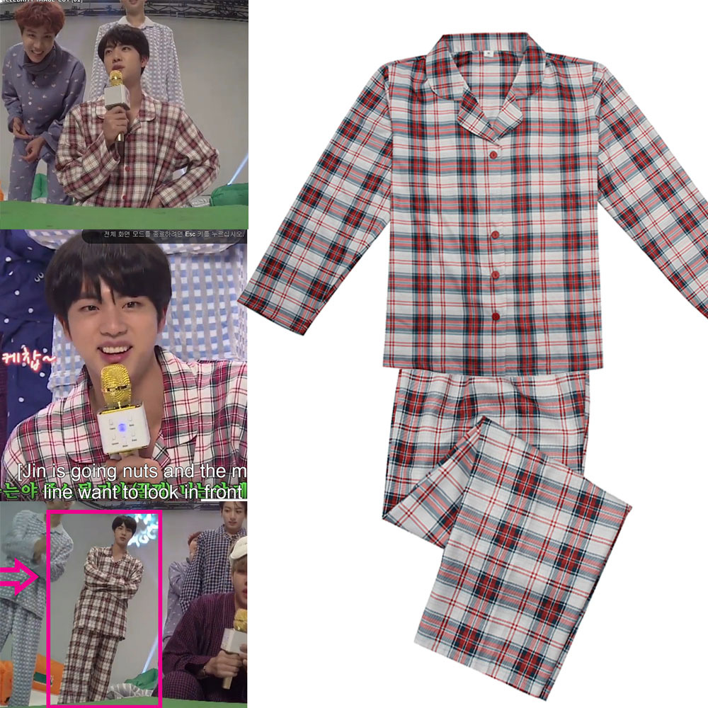 EXO Kpop Tracksuit shirt trousers Suit pajamas for women pajama set pink korean Cotton Striped men spring autumn clothes 2019new