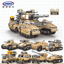 XINGBAO 13005 Military Army Series 8 IN 1 The Mirage Tank Sets Building Blocks Assembly Armored Vehicles Model Bricks Juguetes цена