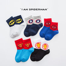 5 Pairs Baby Jungen Winter Socken Super Hero Cartoon Marvel Superman Spiderman Batman Iron Man Kinder Herbst Baumwolle Atmungsaktive Socken(China)