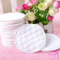 12 Pcs Reusable Breast Feeding Nursing Breast Pads Washable Soft Absorbent Baby Supplies EIG88