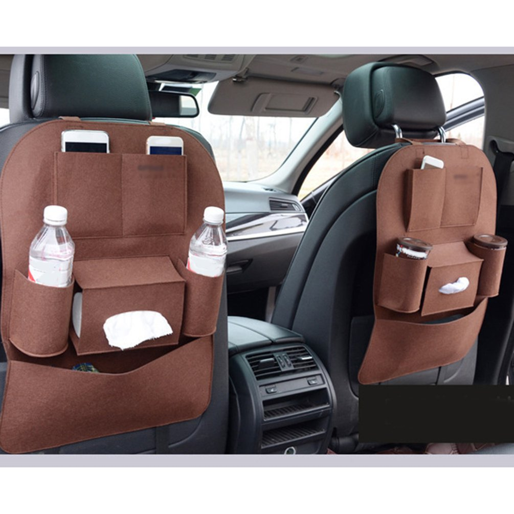 Car Multifunctional Seat 200g Felt Storage Bag Hanging Bag, Sundries Vehicle Chair Backpack 400G/ Square Meter