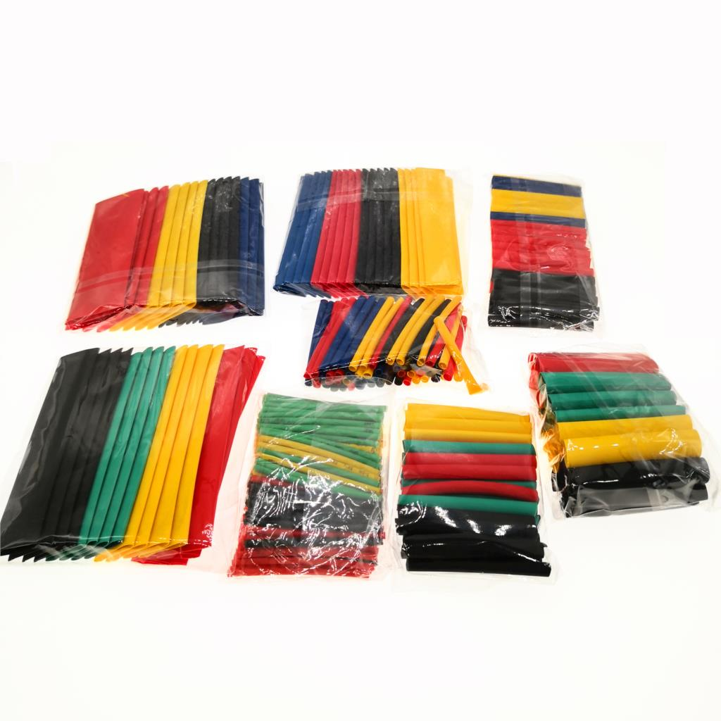 70 - 530Pcs Assorted Polyolefin Heat Shrink Tube Cable Sleeve Wrap Wire Set Insulated Shrinkable Tube