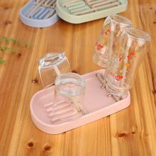 Нетоксичный ребенка бутылки из-под молока, сушильная машина пшеничной соломы Слива чашки сушилка складной держатель лоток для хранения шкаф-органайзер для кухни