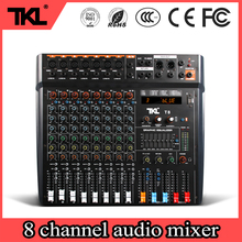 TKL professional digital effect Audio mixer T8 8 channel DSP audio sound console stage DJ mixer