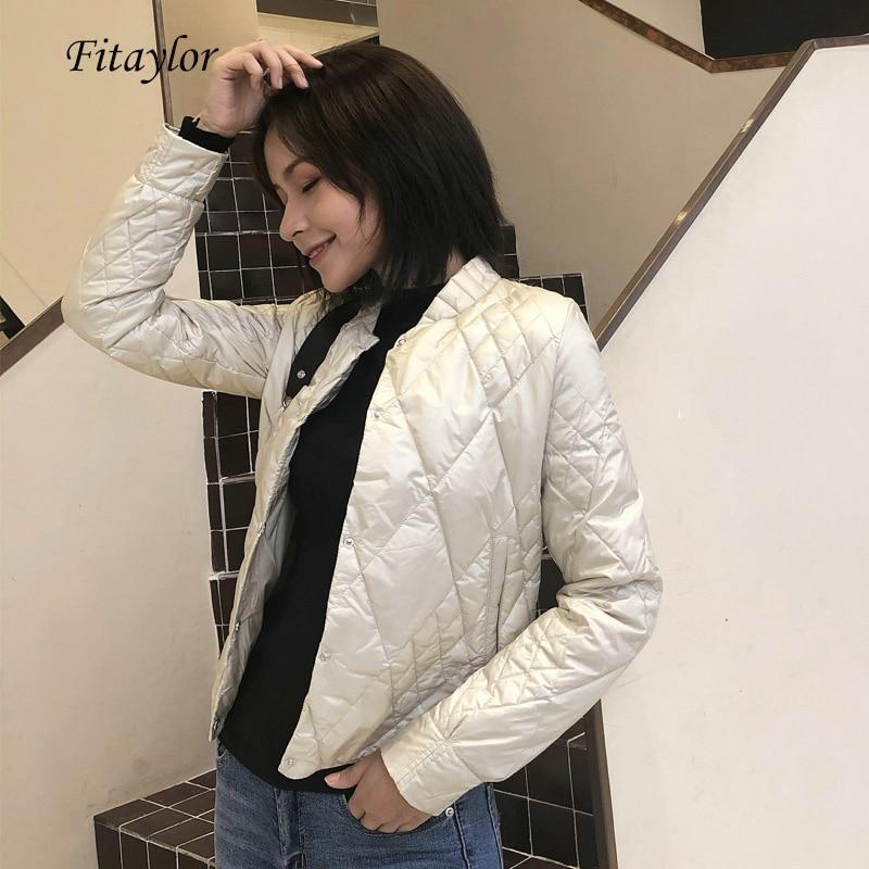 Fitaylor New Winter Ultra Light White Duck   Down   Jackets Women Warm Slim Short   Down     Coats   Single Breasted Plus Size 3xl Outwear