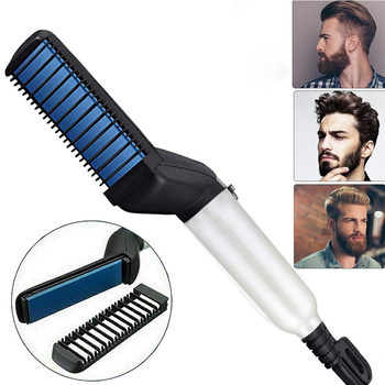 Multifunctional Hair Comb Brush Beard Straightener Hair Straighten Straightening Comb Beard Comb Hair brush Quick Hair Styler недорого