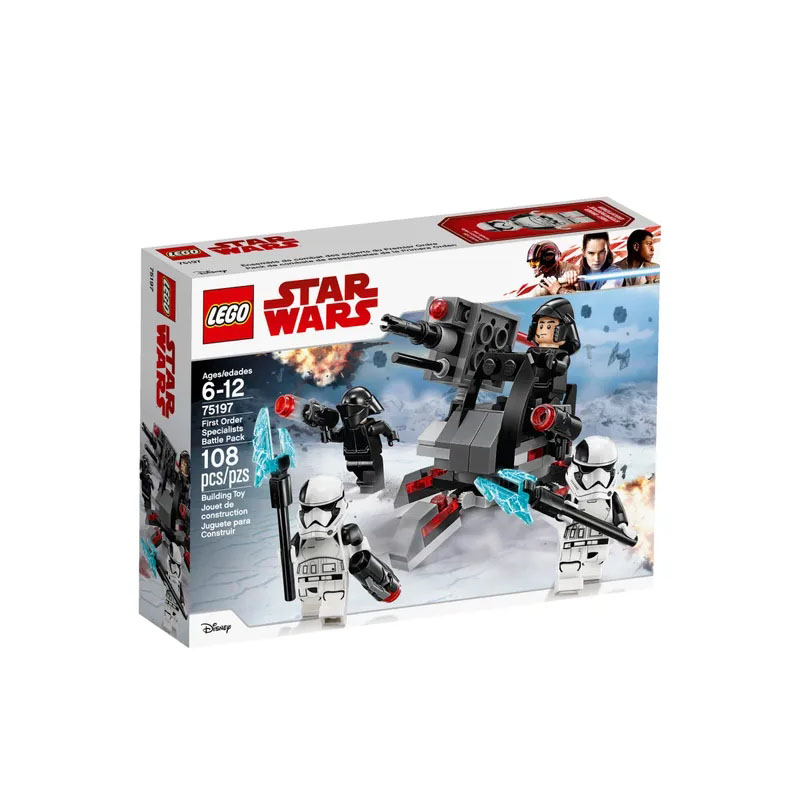 LEGO75197 <font><b>Star</b></font> <font><b>Wars</b></font> Series First Order Specialists Battle Pack Building Block Includes 3 <font><b>Minifigures</b></font> Toy A Great Gift for Kids image