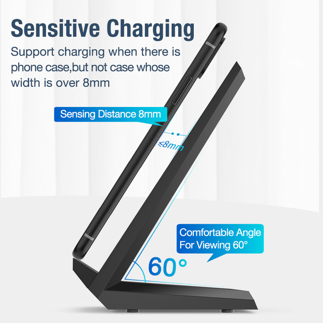 15W Qi Wireless Charger Stand For iPhone 11 pro 8 X XS Samsung s10 s9 s8 Fast Wireless Charging Station Phone Charger Mobile Phone Accessories Smart Phones & Tablets Smartphones