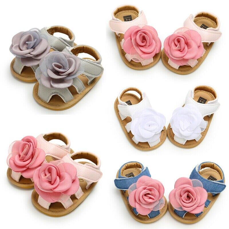 Baby Girl Ruffles Flower Shoes Sandles Summer Holiday Shoes Infant Prewalker