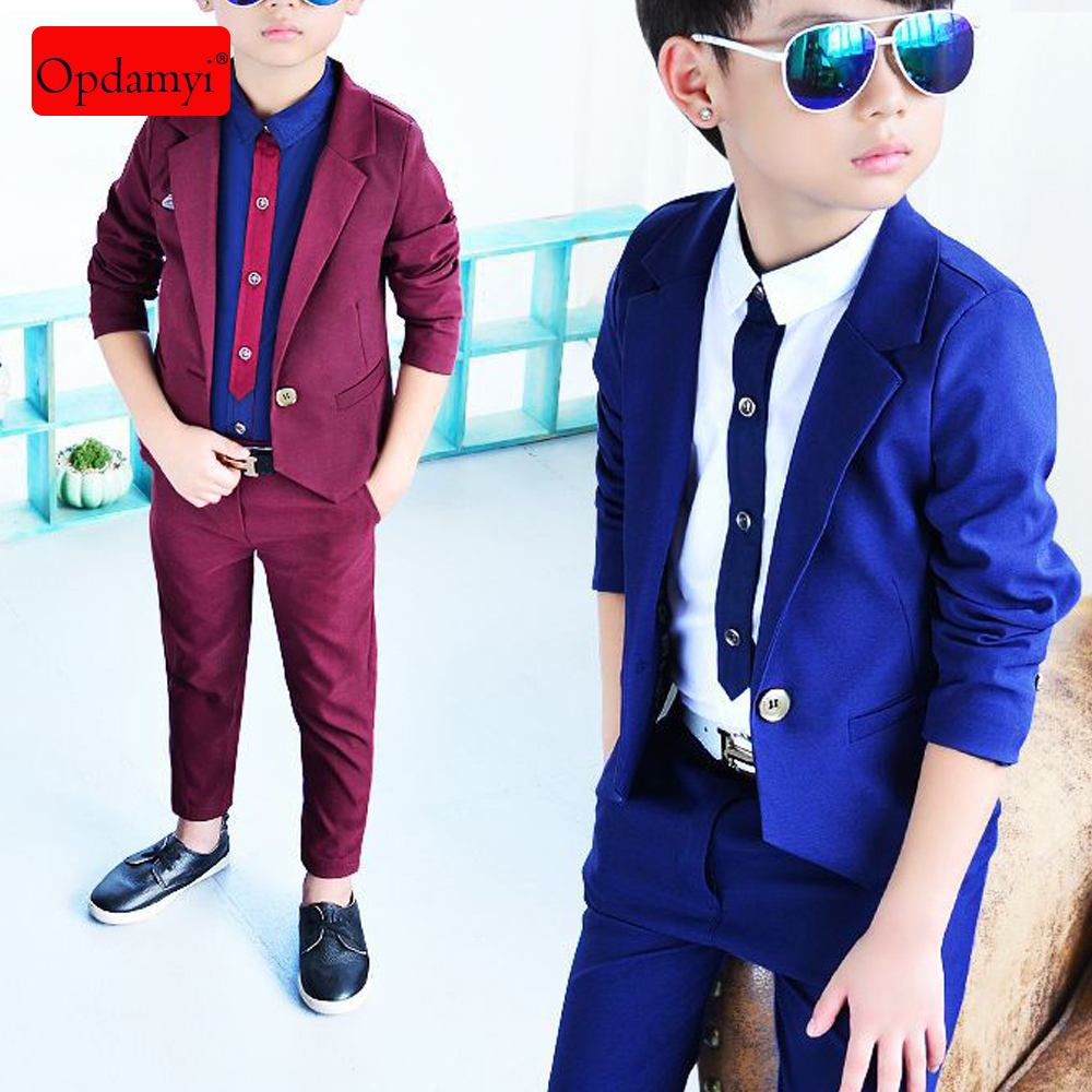 Boy Suits 5 Piece Slim Fit Suit for Kids Formal Set Wedding Ring Bearer Outfit