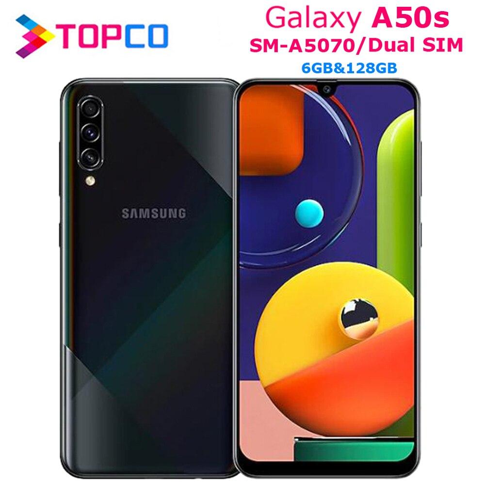 Оригинальный мобильный телефон Samsung Galaxy A50s A5070, две Sim-карты, восемь ядер, 6,4 дюйма, тройная камера, 6 ГБ ОЗУ 128 Гб ПЗУ, NFC, 4000 мАч