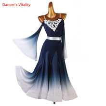 Competition Dance-Dress Long-Skirt Performance Modern Woman Child Profession Custom Sling